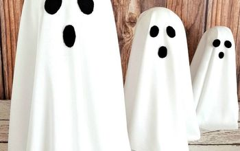 diy floating ghosts for halloween decor