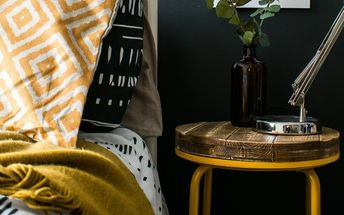 ikea hack stool to side table