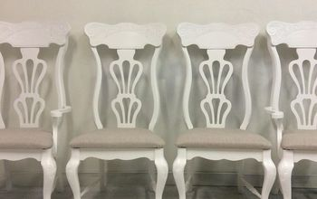 Vintage Farmhouse Style Dining Chairs... Get a Modern Makeover!