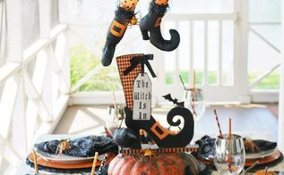 create a floating umbrella witch for halloween