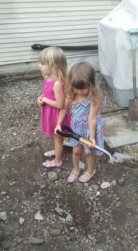 Twins Emily (left) & Bella (right) Helping