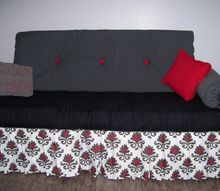 i made a sofa out of a fold up cot