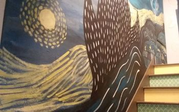staircase starry night mural, Looking Up The Stairs
