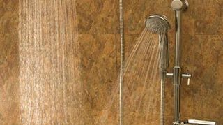 , This system head screws onto your existing pipe coming out of the wall and then requires that you bolt the vertical bar that holds the shower wand into your tile wall not too hard to do if you are handy