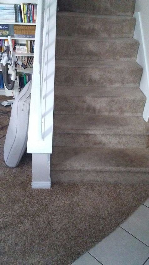 Stair Runner Over Carpeted Stairs