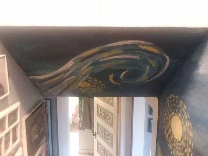 Painted Partial Ceiling Section With Cloud