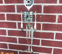silverware skeleton wind chime