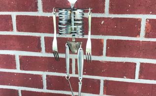 silverware skeleton wind chime