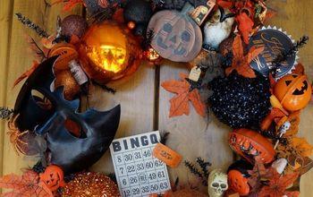 make a vintage halloween wreath