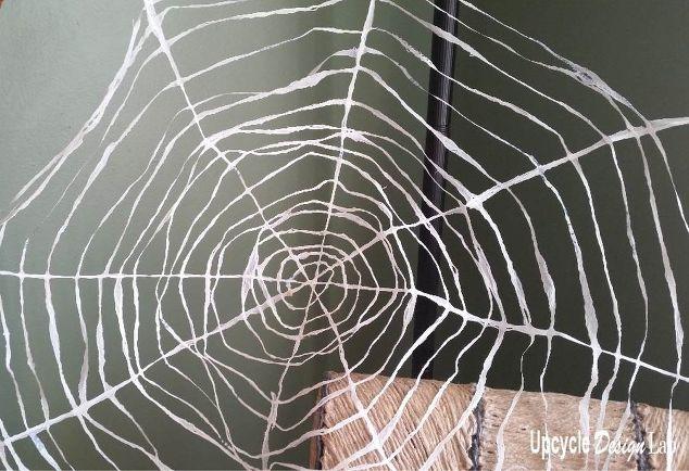 plarn spider web halloween decoration diy