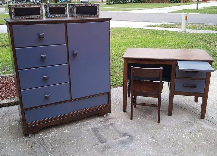 stork line nursery dresser and oak desk