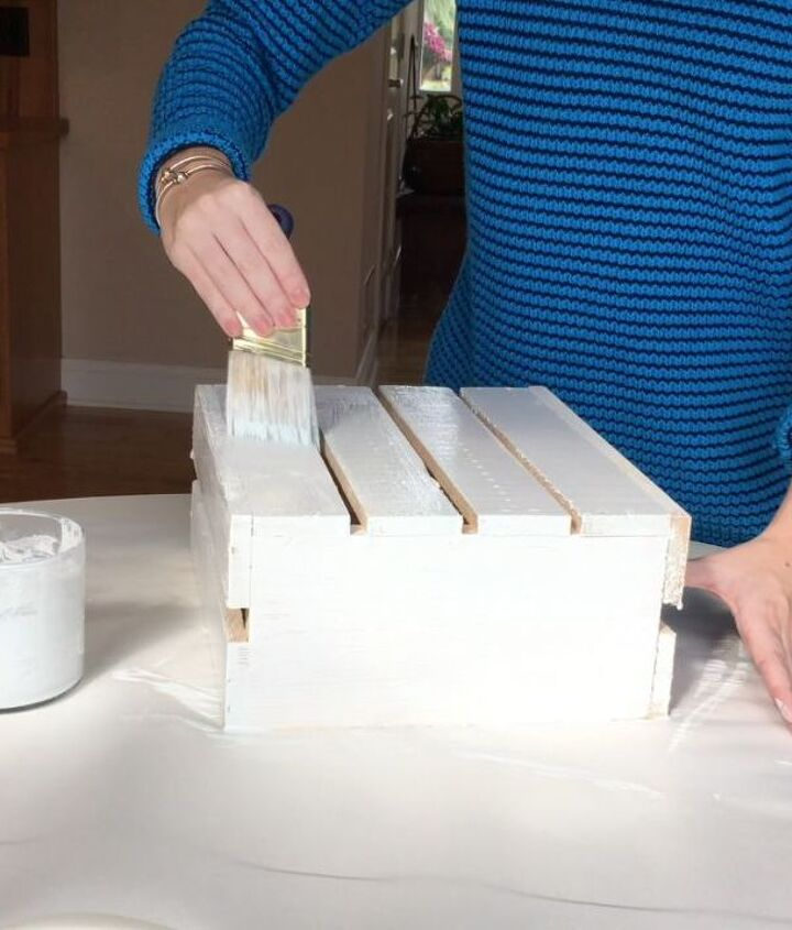 s step by step turn crates into the perfect pieces for your home, Step 2 Paint both crates