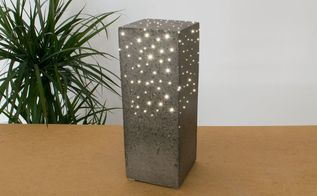 diy concrete constellation lamp with optical fibers
