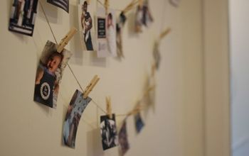 Easy Photo String Wall for Party Decor