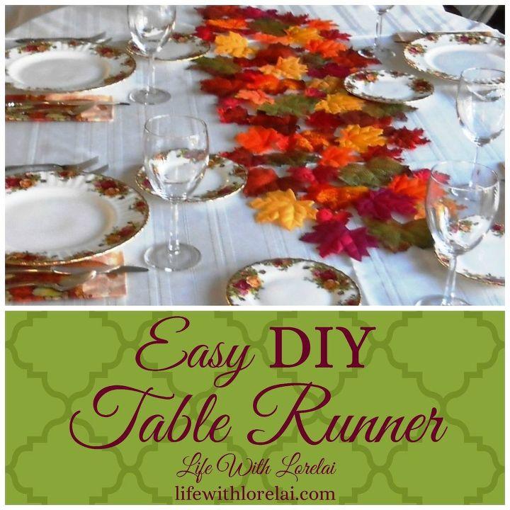 easy diy table runner autumn or anytime