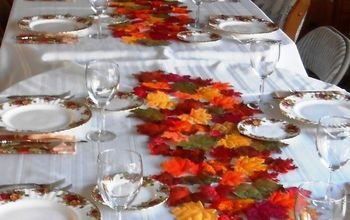 Easy DIY Table Runner - Autumn or Anytime