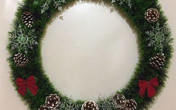 hula hoop christmas wreath, Easy and cute