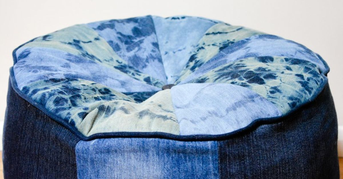Large Denim Floor Cushion Hometalk