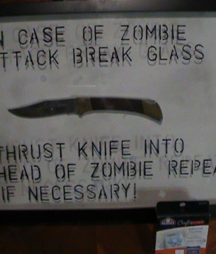 in case of zombie attack inspiration for picture frame challenge