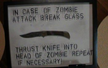 """In Case of Zombie Attack"" Inspiration for Picture Frame Challenge!!"