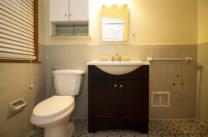 DIY Simple White IKEA Bathroom Renovation Hometalk - Simple bathroom renovations