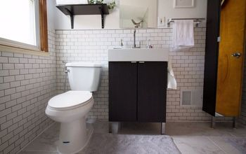 diy simple white ikea bathroom renovation