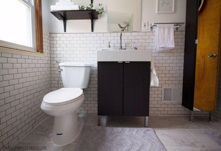DIY Simple White IKEA Bathroom Renovation Hometalk - Ikea bathroom renovation