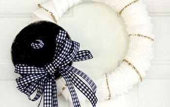 Neutral Witch's Hat Cupcake Liner Wreath