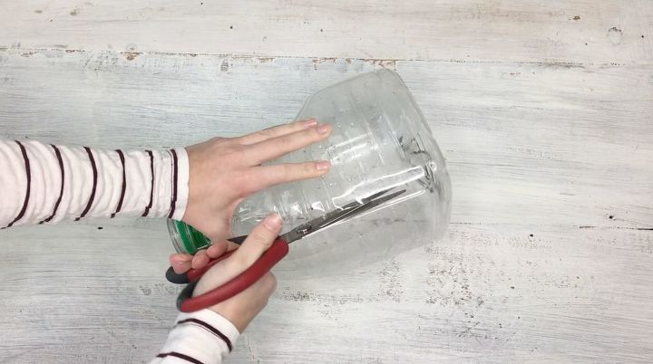 s step by step upcycle your old clothing items for these great ideas, Step 3 Cut out the marked area of bottle