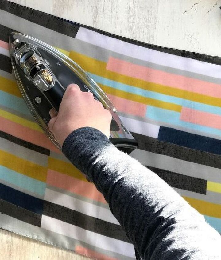 s step by step upcycle your old clothing items for these great ideas, Step 1 Iron scarf