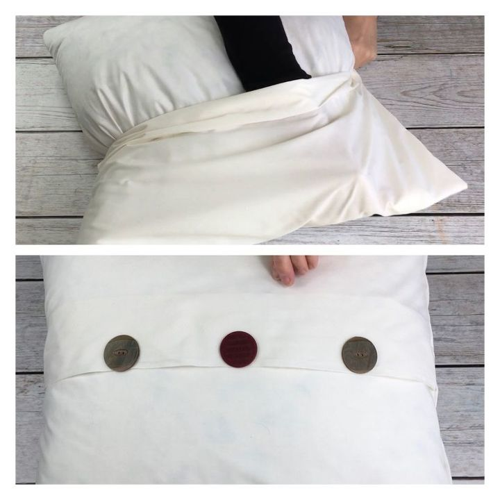 three super easy no sew pillows