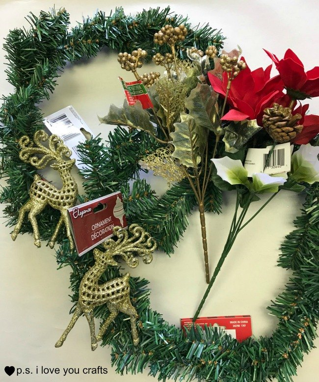 dollar store christmas wreath