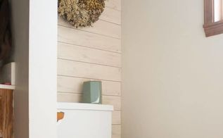 install wall planks or shiplap looking planks in just 2 hours