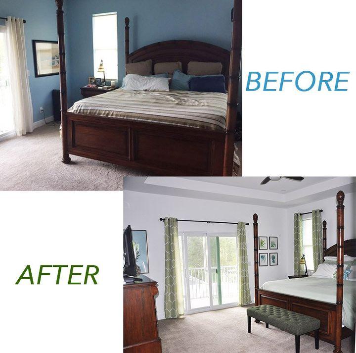 master bedroom makeover on a budget
