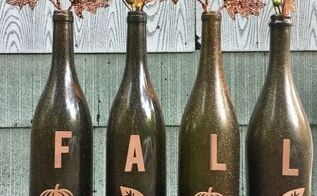 repurpose wine bottles into festive fall decorations