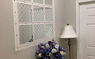 faux window deceptively makes the foyer bigger