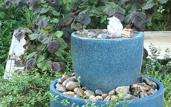 make a bubble fountain for your yard in an afternoon on a budget
