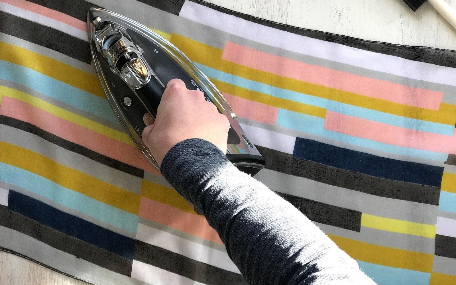 s upcycle your old clothing items for these great ideas, Step 1 Iron out scarf