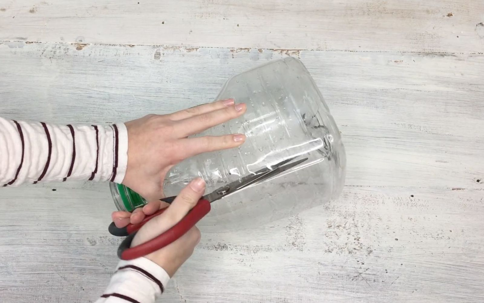s upcycle your old clothing items for these great ideas, Step 4 Cut out the marked area of bottle