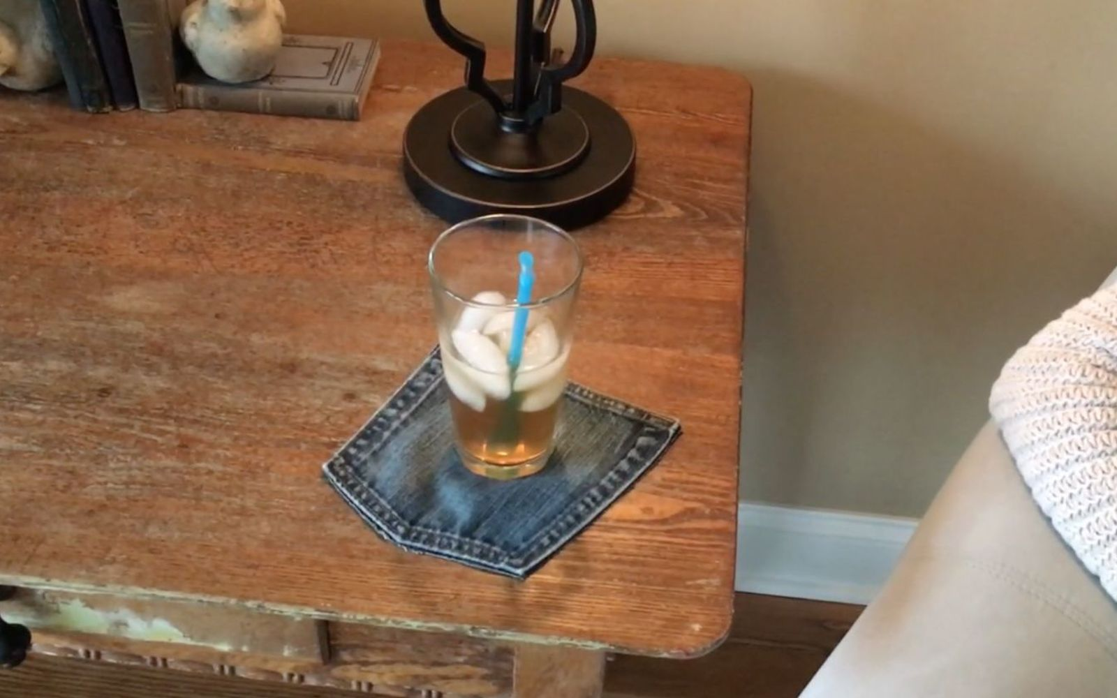 s upcycle your old clothing items for these great ideas, Step 6 Use your cute coaster