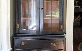 old maple hutch makeover