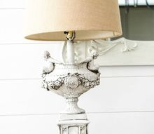 french country lamp makeover