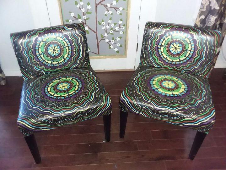 Fabulous Boho Painted Vinyl Mandala Chairs Hometalk Creativecarmelina Interior Chair Design Creativecarmelinacom