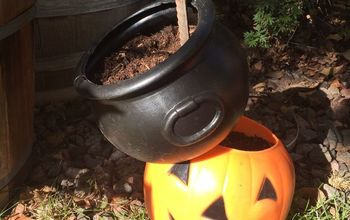 create an easy halloween tipsy pot planter in an hour