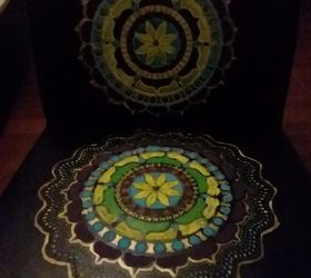 Marvelous Boho Painted Vinyl Mandala Chairs Hometalk Creativecarmelina Interior Chair Design Creativecarmelinacom