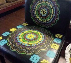 Superb Boho Painted Vinyl Mandala Chairs Hometalk Creativecarmelina Interior Chair Design Creativecarmelinacom