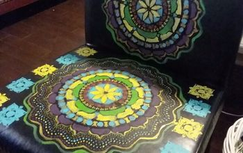 boho painted vinyl mandala chairs, I m out of time this will have to suffice