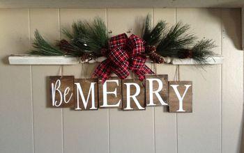 Vasoline Distressing Makes a Beautiful Holiday Decor Piece