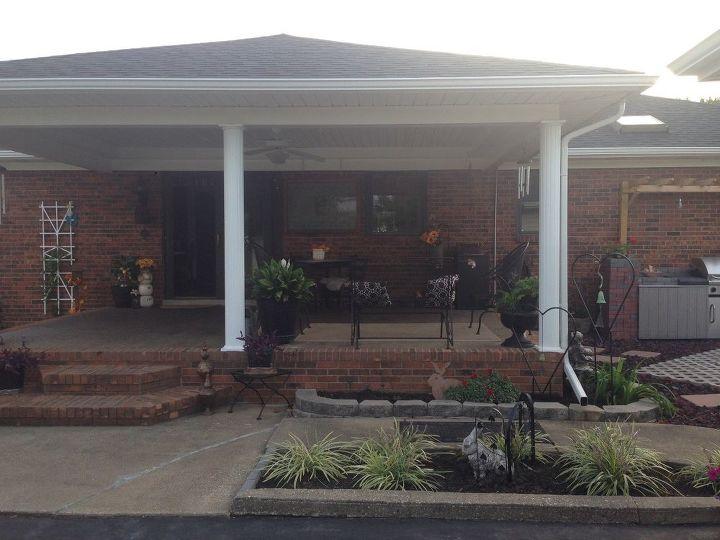 q temporary enclosure for half of patio