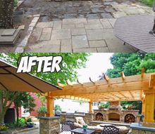 backyard transformation before after